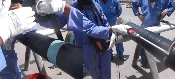 Installation of Stopaq Coating for Pipes, OICC Nizwa Facility